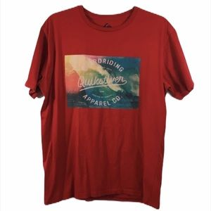 Quicksilver Red Graphic Surf T-Shirt
